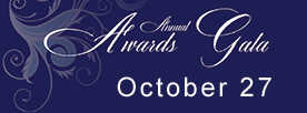 save the date for the awards gala October 27